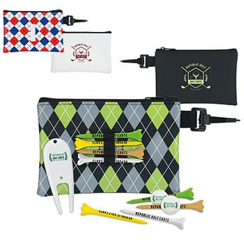 Pattern Golf Pouch Tee Kit 3-1/4""