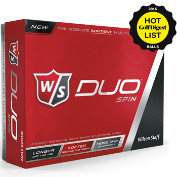 Wilson&#174 Staff Duo Spin Golf Ball Std Serv
