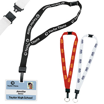 3/4-Inch Breakaway Lanyard with Key Ring